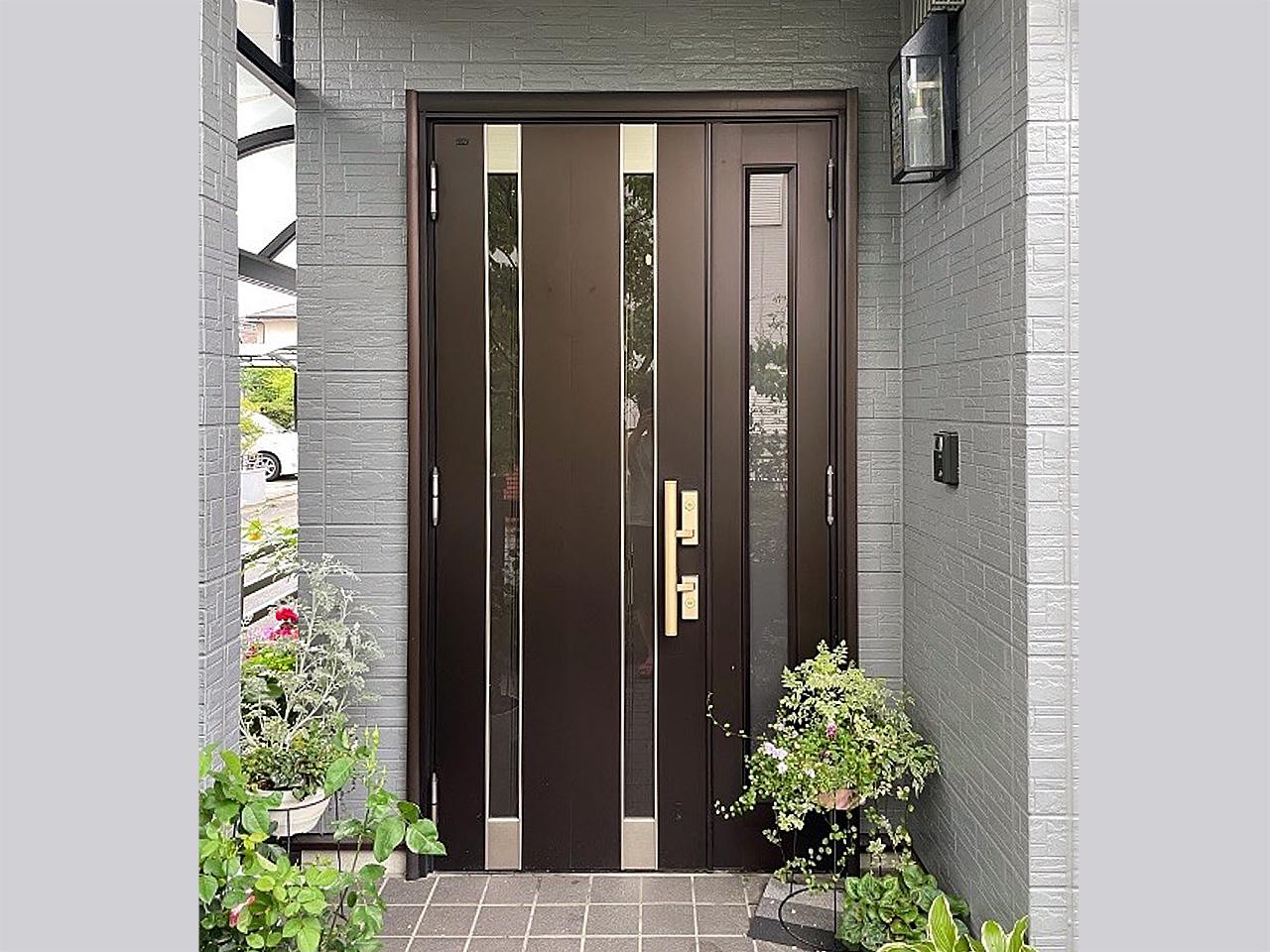 玄関ドア取り替え前